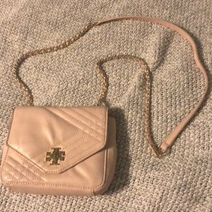 TORY BURCH - blush & chain crossbody bag